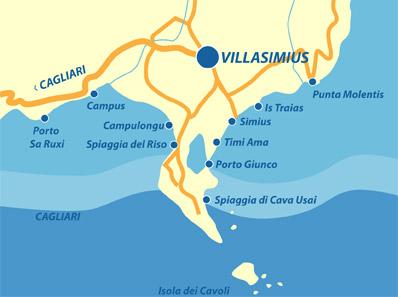 Karte Sardinien Strände.Die Schönsten Strände Von Villasimius Und Der Südostküste Sardiniens